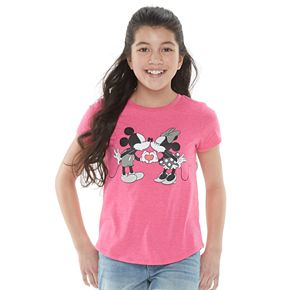 Disney's Mickey & Minnie Mouse Girls 7-16 Family Fun Graphic Tee