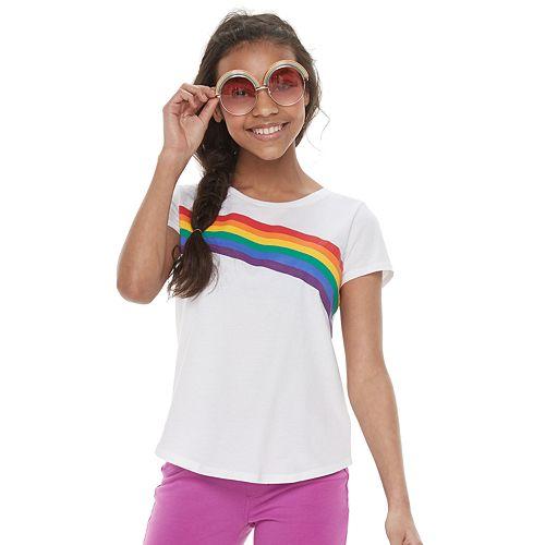 Girls 7-16 Family Fun™ Rainbow Pride Graphic Tee