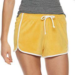 Juniors' SO® Retro Dolphin Velour Shorts