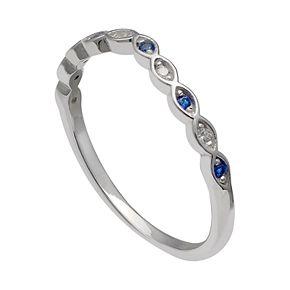 Women's Primrose Sterling Silver Cubic Zirconia Ring