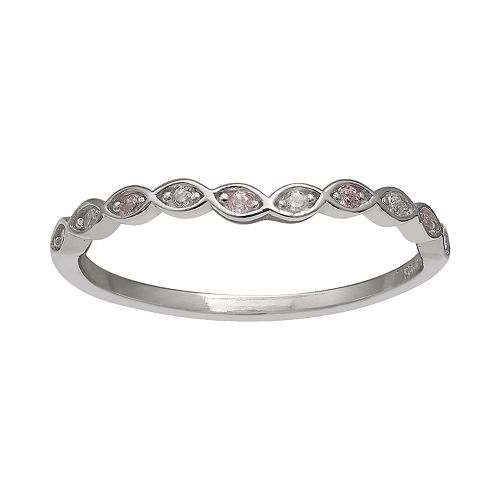 Women's Primrose Sterling Silver Cubic Zirconia Ring