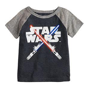 Toddler Boy Jumping Beans® Star Wars Light Sabers Raglan Tee