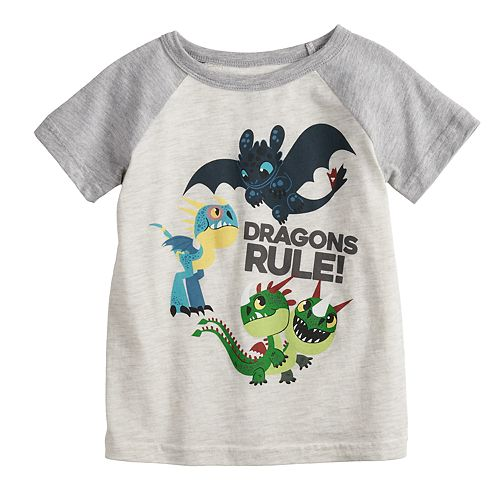 """Toddler Boy Jumping Beans® """"How To Train Your Dragon"""" Raglan Graphic Tee"""