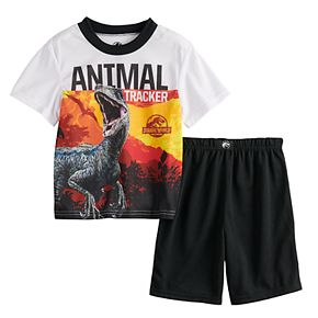 Boys 4-10 Jurassic World Dinosaur 2-Piece Pajama Set