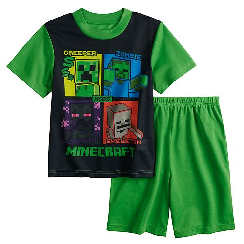 Boys 6-12 Minecraft 2-Piece Pajama Set