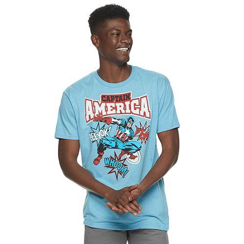 Men's Captain American Comic Tee