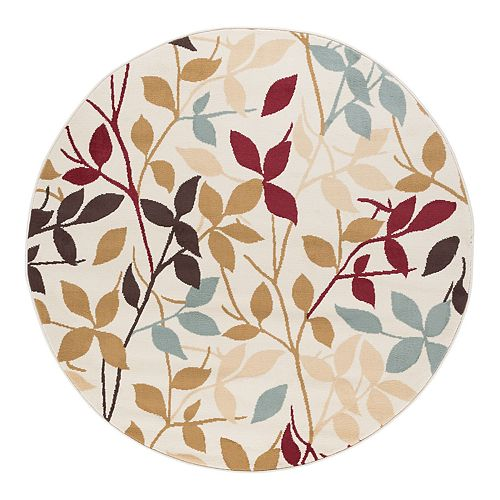 KHL Rugs Danica Floral Indoor Round Area Rug
