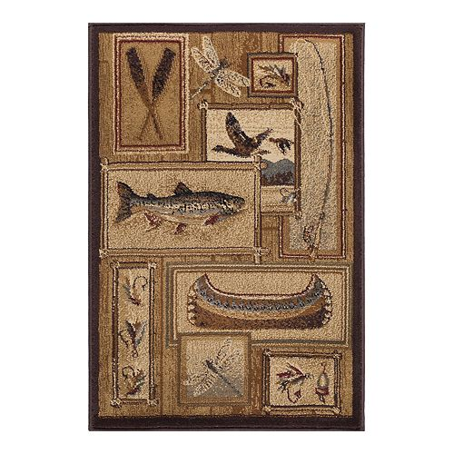 Khl Rugs Trout Fishing Lodge Indoor Area Rug