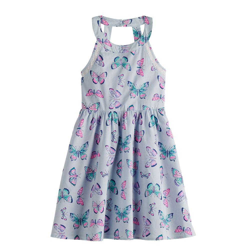 Girls 4-12 SONOMA Goods for Life® Print Halter Dress