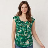 NEW! Women's LC Lauren Conrad Pleat Neck Top
