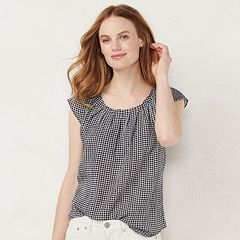 b303d6972a459d Women s LC Lauren Conrad Pleat Neck Top