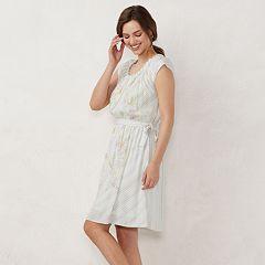 f225a5529ce Women s LC Lauren Conrad Pleat Neck Dress