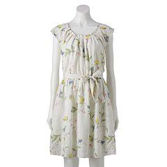 NEW! Women's LC Lauren Conrad Pleat Neck Dress