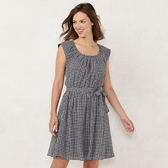 df7e22b76d7 Women s LC Lauren Conrad Pleat Neck Dress