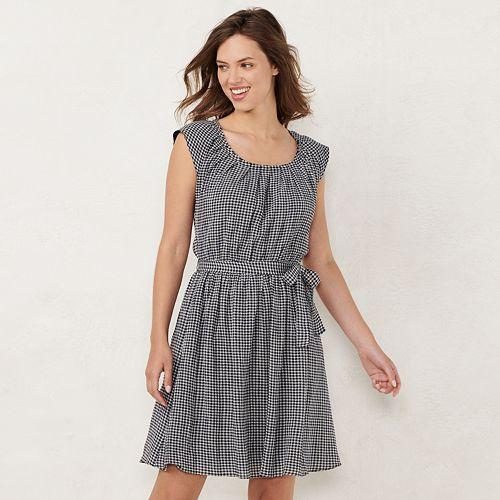 1cefc2f98 NEW! Women's LC Lauren Conrad Pleat Neck Dress