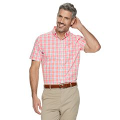 Men's Croft & Barrow® Patterned Slim-Fit Easy-Care Button-Down Shirt