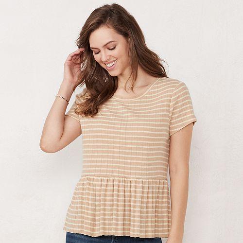 Women's LC Lauren Conrad Peplum Top