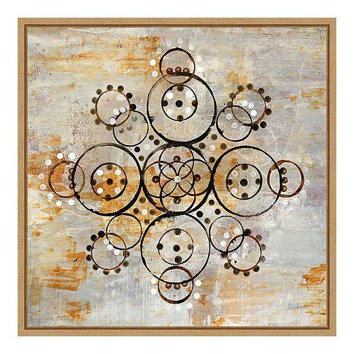 Amanti Art Framed 'Saffron Mandala I Crop' by Melissa Averinos