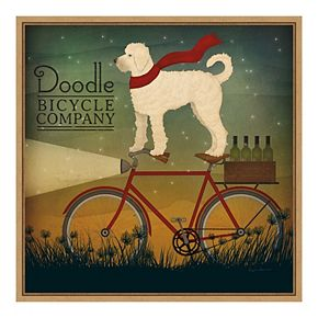 Amanti Art Framed 'White Doodle on Bike Summer' by Ryan Fowler