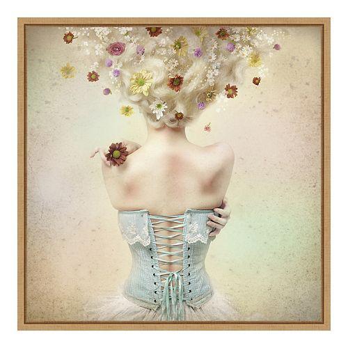 Amanti Art Framed 'Girl of the Flower Garden' by Kiyo Murakami