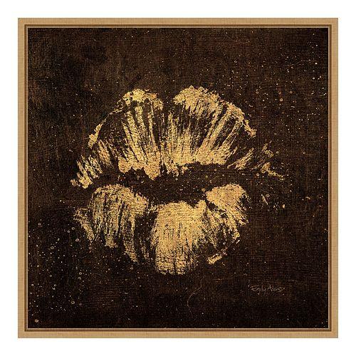Amanti Art Framed 'Shoe Fetish Quotes VIII Dark: Lips' by Emily Adams Wall Art