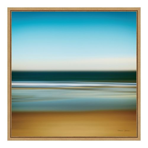 Amanti Art Framed 'Sea Stripes I' by Katherine Gendreau Wall Art