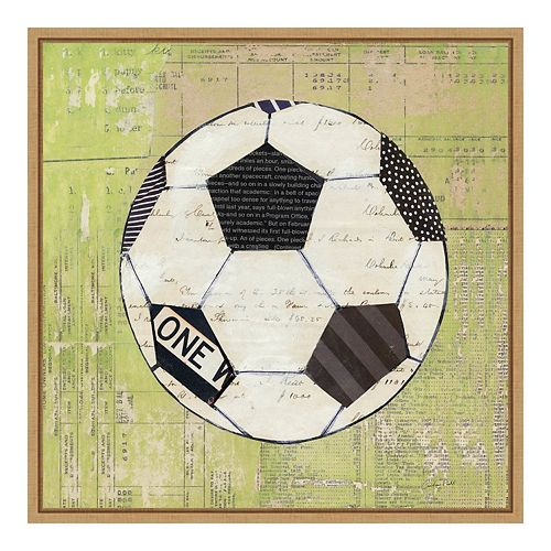 Amanti Art Framed 'Baseball Play Ball I Soccer' by Courtney Prahl Wall Art