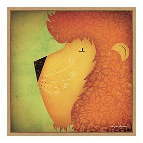 Amanti Art Framed Canvas Lion WOW by Ryan Fowler