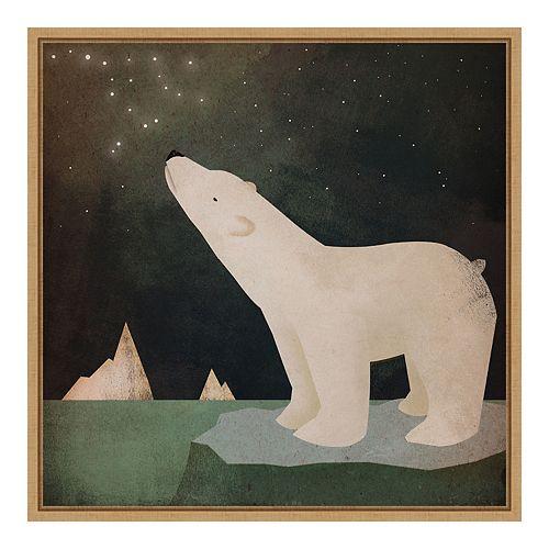 Amanti Art Framed Canvas Art Constellations Polar Bear by Ryan Fowler