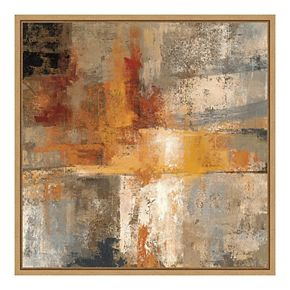 Amanti Art Framed Canvas Silver and Amber Crop by Silvia Vassileva