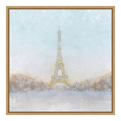 Amanti Art Framed Canvas Eiffel Romance no Couple Turquoise by Marco Fabiano