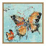 Amanti Art 'Monarch II Light Blue' by Kellie Day