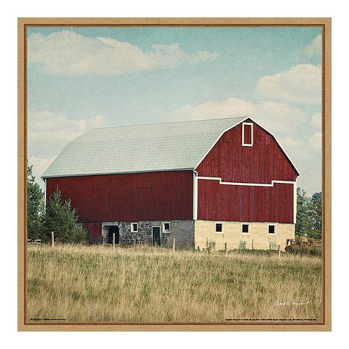Amanti Art 'Blissful Country VI Crop (Barn)' by Elizabeth Urquhart