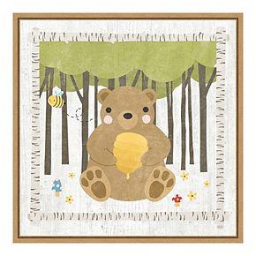 Amanti Art 'Woodland Hideaway Bear' by Moira Hershey