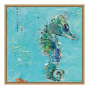 Amanti Art 'Little Seahorse Blue' by Kellie Day