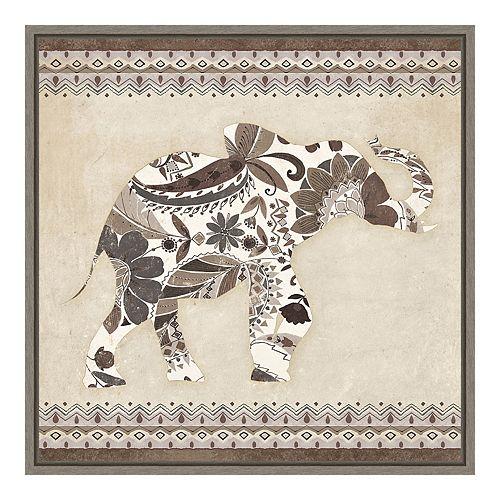 Amanti Art 'Boho Elephant I Neutral' by Wild Apple Portfolio