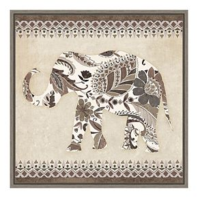 Amanti Art 'Boho Elephant II Neutral' by Wild Apple Portfolio