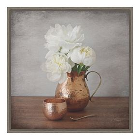 Amanti Art Vintage Peony Dreams III Canvas Wall Art