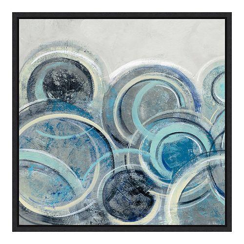 Amanti Art Canvas Art Framed 'Variation Blue Grey II' by Silvia Vassileva