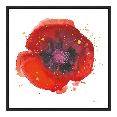 Amanti Art 'Splash V with Gold Poppy' by Shirley Novak