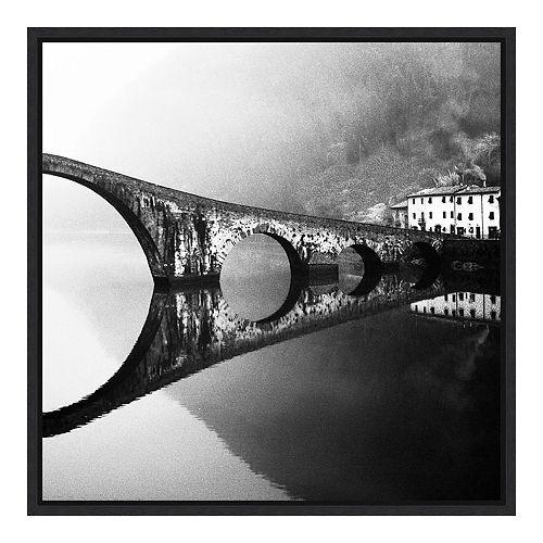 Amanti Art 'devil's bridge' by Franco Maffei Framed Canvas Wall Art