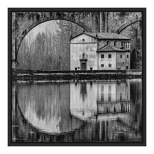 Amanti Art 'Water Architecture' by Massimo Della Latta Framed Canvas Art