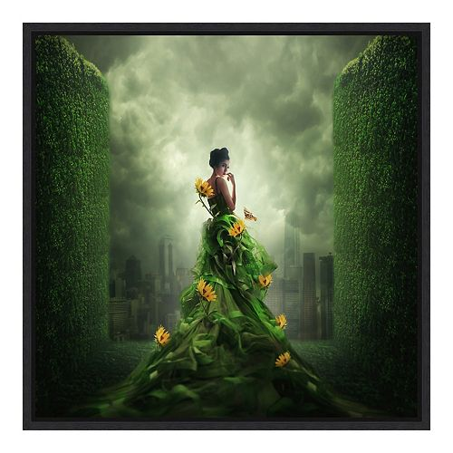 Amanti Art Framed 'Go Green' by Hardibudi Wall Art