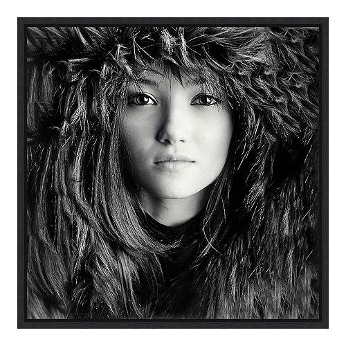 Amanti Art Framed 'Wolf Girl' by Oren Hayman Wall Art