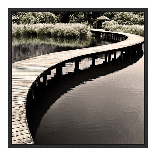 Amanti Art Framed 'Water Walkway' by Eric Chan Wall Art