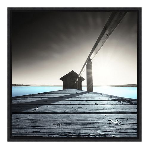 Amanti Art Framed 'Old Boathouse' by Anon Wall Art