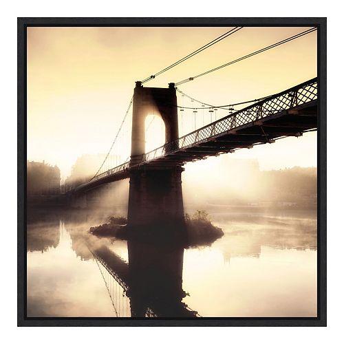 Amanti Art Framed 'Footbridge in the Setting Sun' by P. Frederic Wall Art