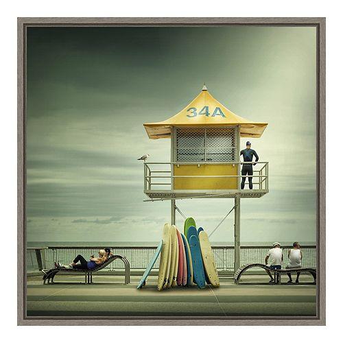 Amanti Art Framed Canvas The Life Guard