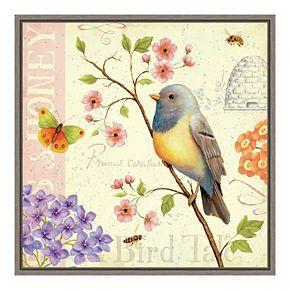 Amanti Art Framed Canvas Birds and Bees I