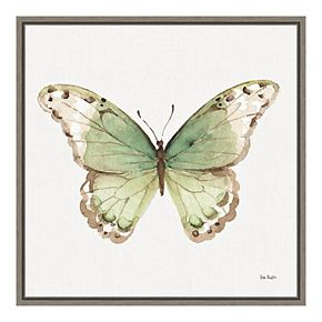 """Amanti Art """"Colorful Breeze XII (Butterfly)"""" Framed Canvas"""